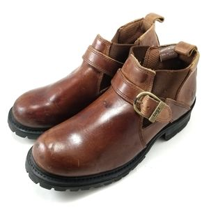 Lugz Brown Boots Heavy Sole Mens Oil Resistant